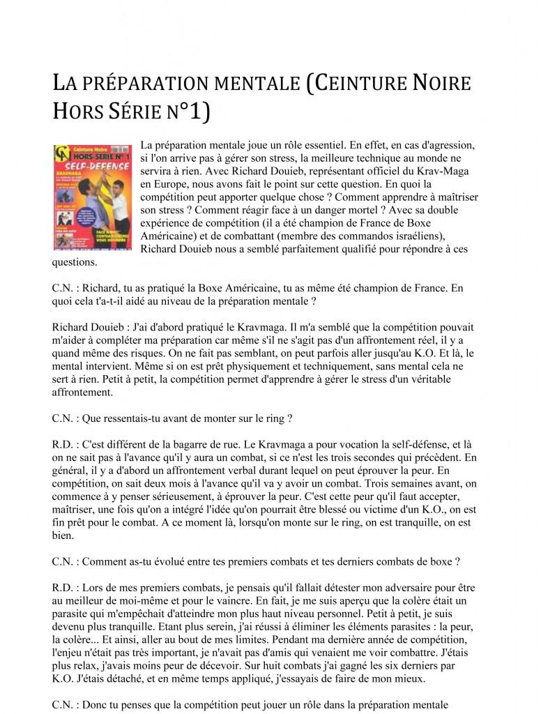 Microsoft Word - rdp-fr-Ceinture Noire Hors Série n°1 - La pr