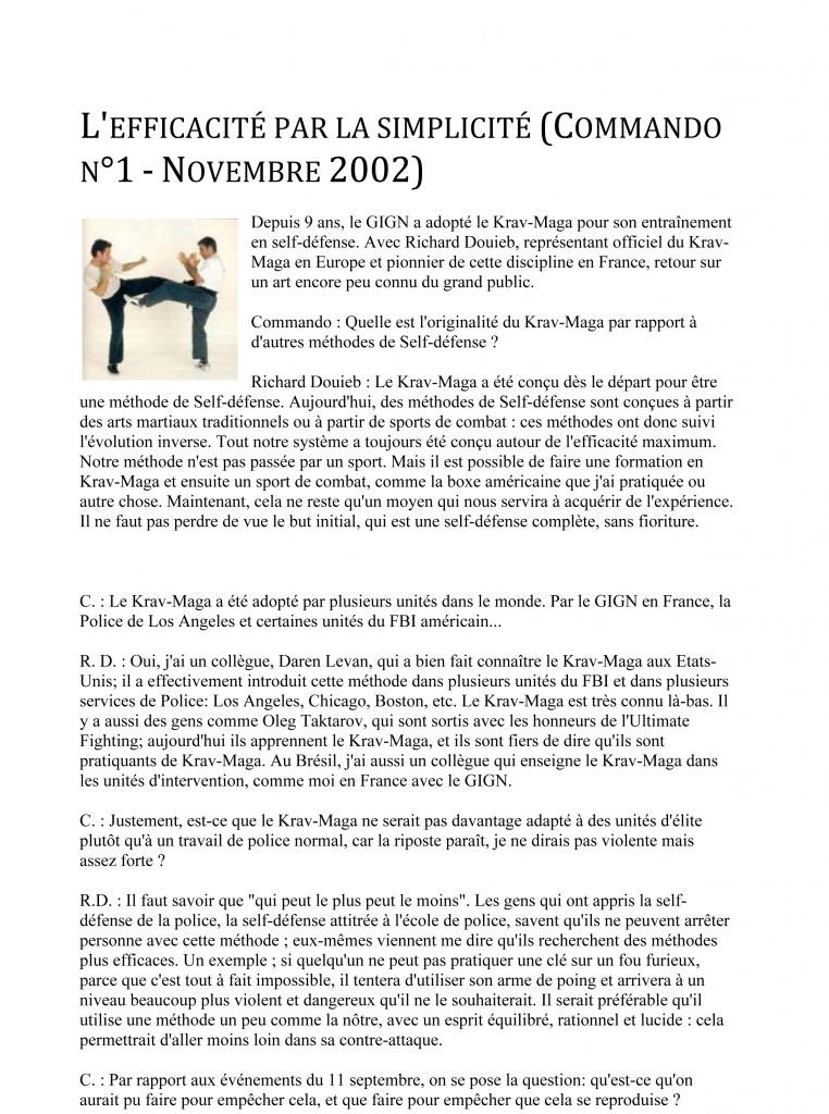 Microsoft Word - rdp-fr-Commando n°1 - Novembre 2002 - L'effica