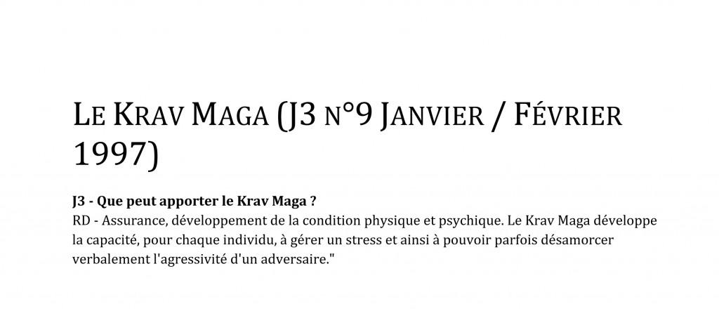 Microsoft Word - rdp-fr-J3 n°9 Janvier  Février 1997 - Le Krav